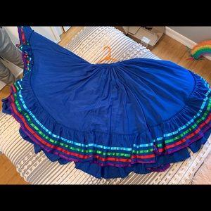 Dresses & Skirts - Girls Folklorico Navy Blue skirt
